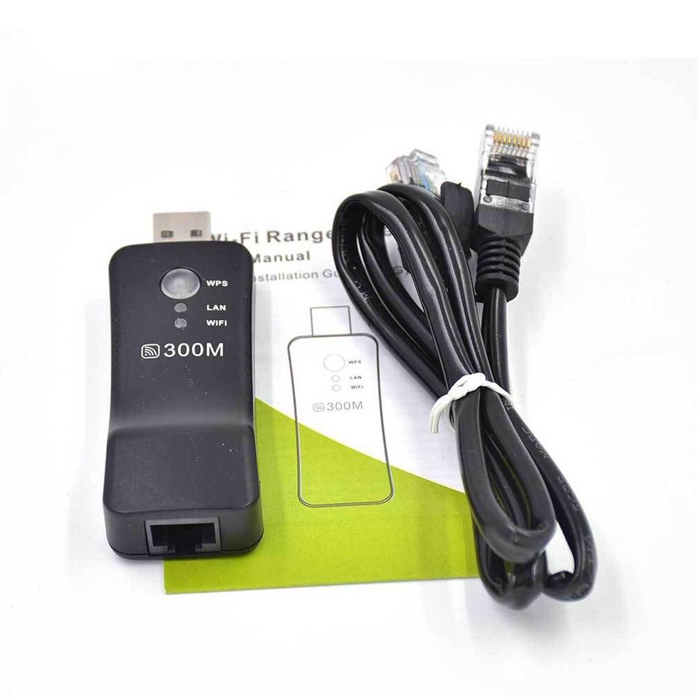 300Mpbs USB Wireless WiFi Smart TV Network Adapter Universal HDTV RJ45 Lan Port Repeater AP WPS for Samsung LG Sony TV