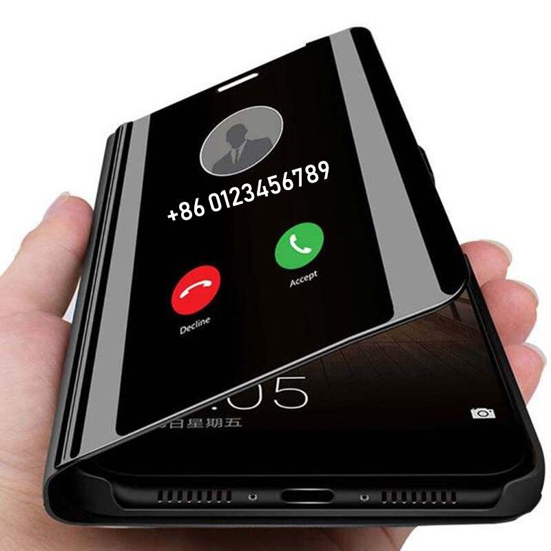 Зеркальный умный флип-чехол для телефона Huawei Mate 40 30 20 P40 P30 P20 Mat 10 9 Pro Lite P10 P9 Plus, защитный чехол