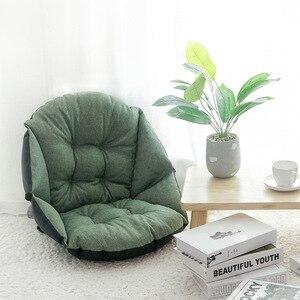 Image 3 - Étudiant lin tapisserie dameublement épais chaud siège coussin bureau taille coussin ordinateur chaise coussin