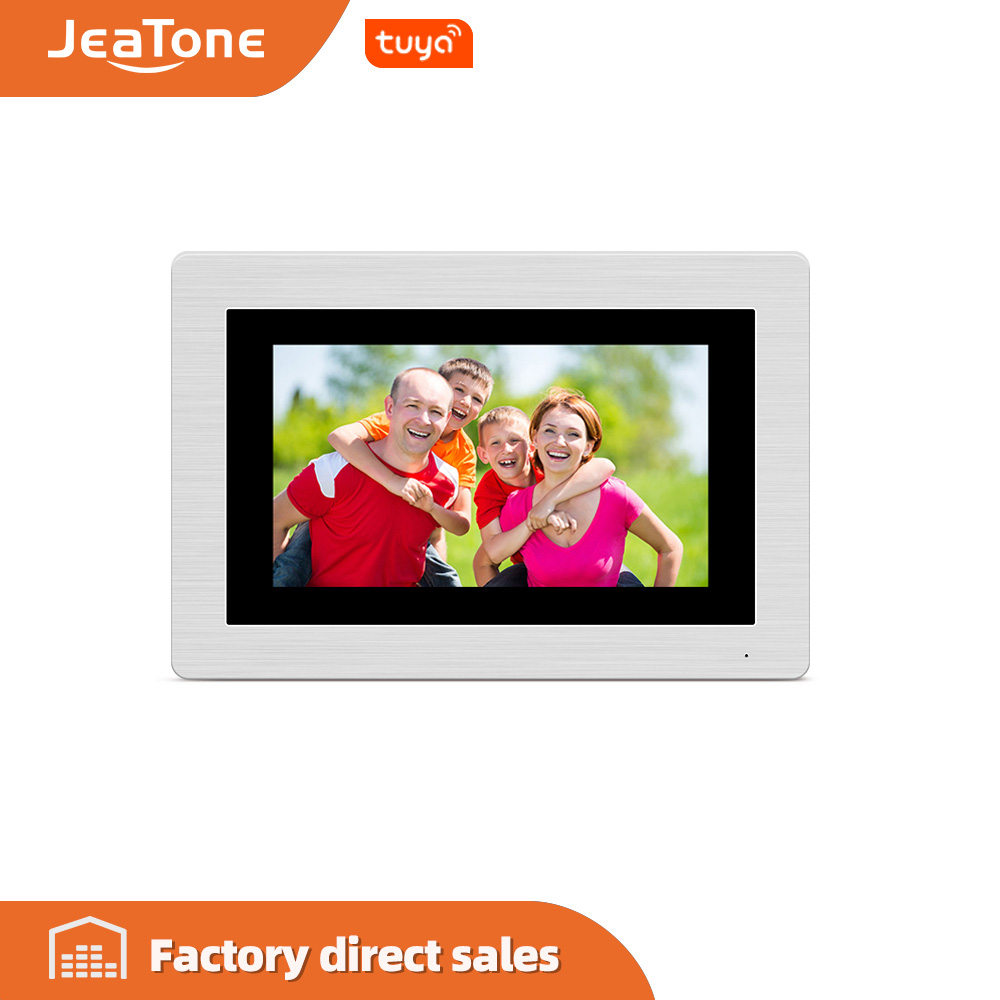 Jeatone Single 7 Inch WIFI IP Video Door Phone Intercom Wireless Door Bell Access Control System Touch Screen Motion Detection