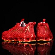 TaoBo mężczyźni Blade buty do biegania Plus rozmiar 46 mężczyźni Casual męskie tenisówki kobiety Zapatos De Mujer Hombre sznurowane lekkoatletyka oddychająca