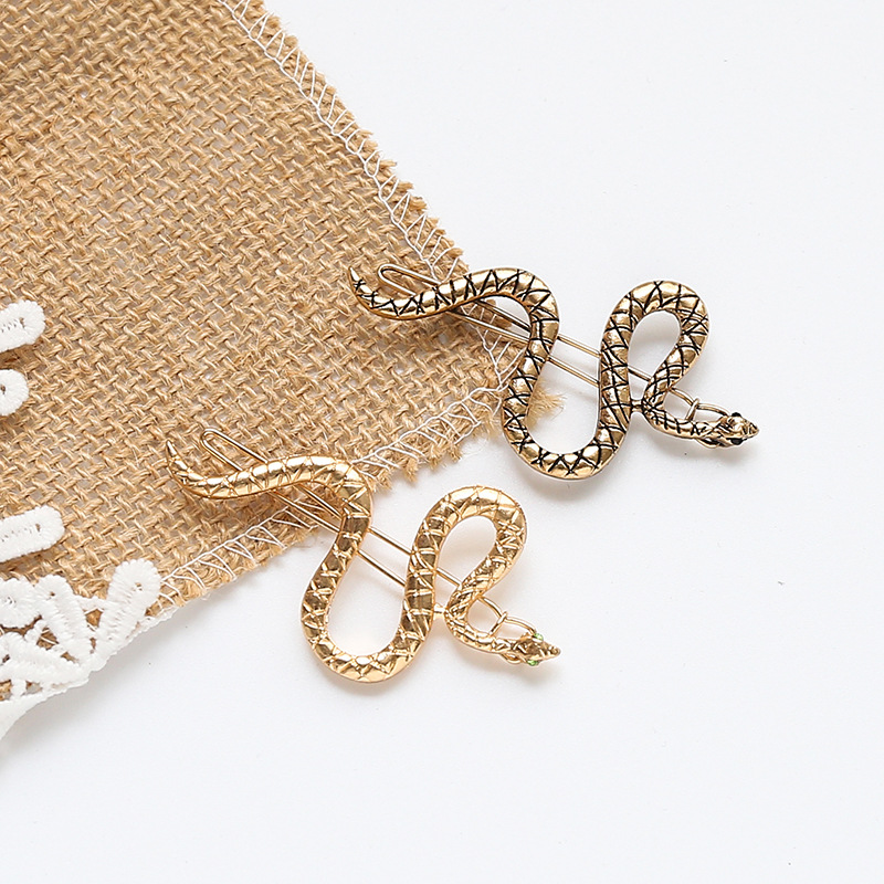 Punk Simple Hairpins Snake Animals Gold Metal Hairpins Hair Clips For Women Wedding Headpiece Hairgrips Hair Accessories
