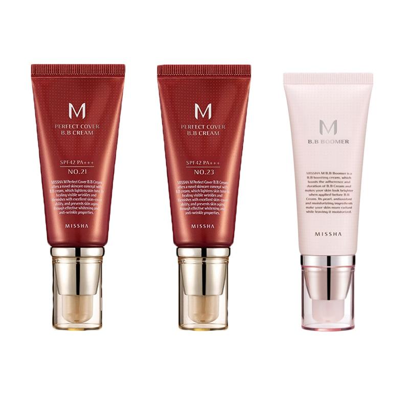 MISSHA M Perfect Cover BB Cream 50ml #27 #23 #21 #31Korean Cosmetic Moisturizing Foundation Natural Brightening Original Package