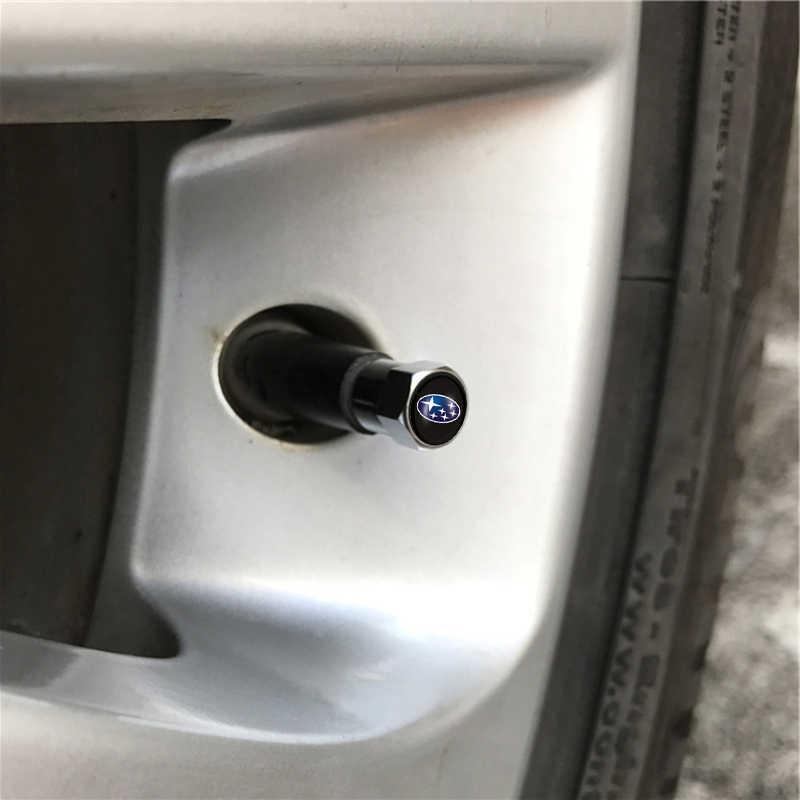 Pour Subaru Forester Impreza Outback héritage Subaru Xv accessoires de voiture 4 pièces voiture pneu Valve bouchons Badge décoration voiture-style