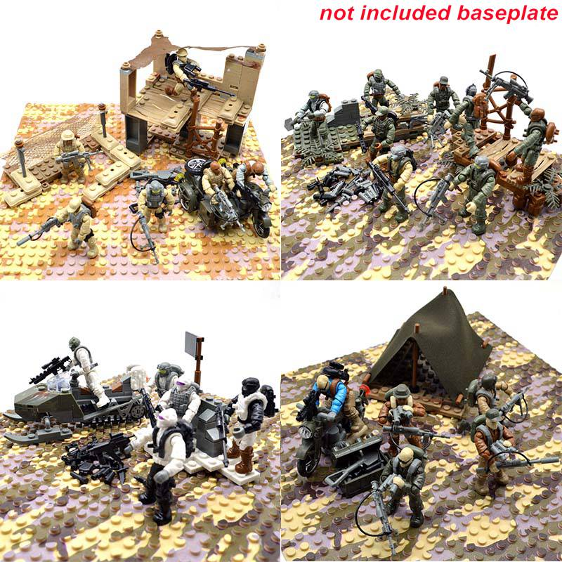Warrior Special Force Building Blocks Bricks Model Set Figure Toys