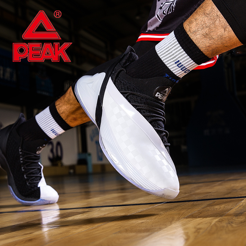 PEAK TONY PARKER 7 Basketball Sneakers TAICHI Technology Adaptive Cushioning Sneakers Male Training Sports Shoes