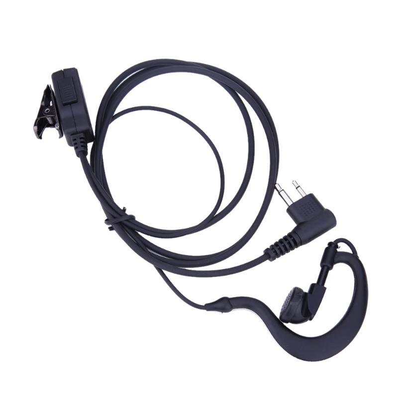 1m auricular de 2 pines micrófono PTT para Motorola CB Radio CP88 CP040 CP100 CP110 XV1100 XV2100 AXV5100 XU1100 Walkie Talkie