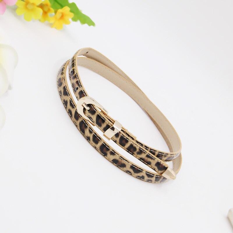 Купить ремень тонкий блестящий с леопардовым принтом женский тонкий