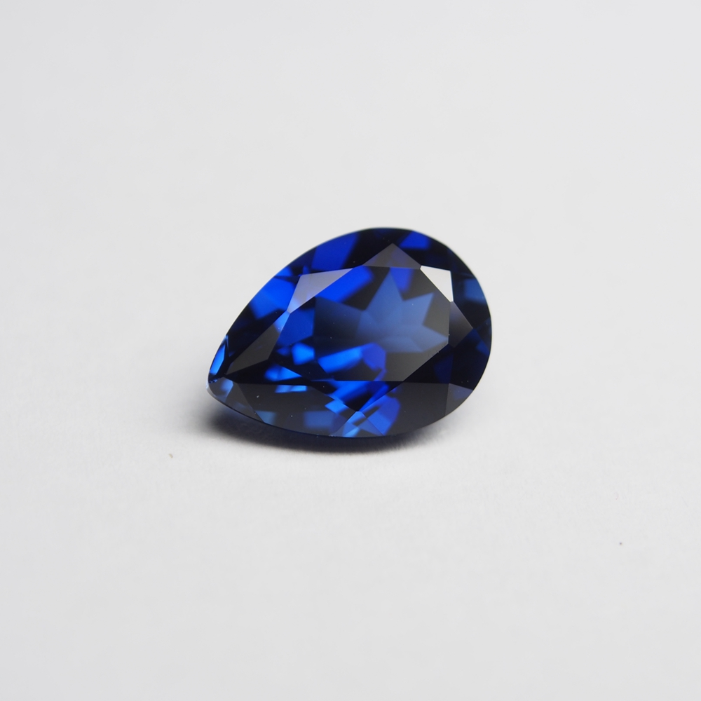 13*18mm 2 Piece /alot Top Quality Pear Cut Blue Sapphire Loose Gemstone DIY Stones for ring making