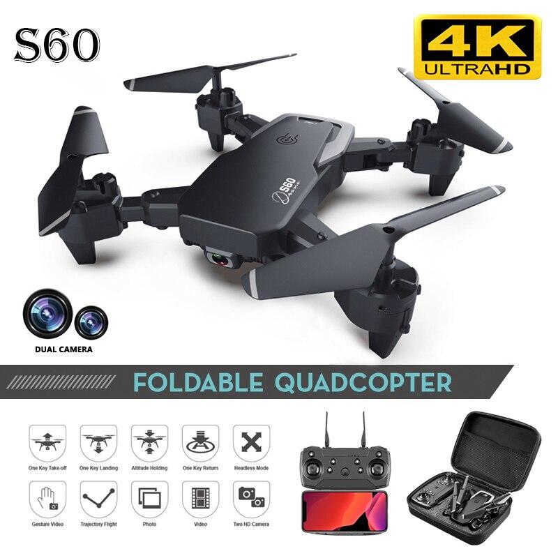 S60 Drone 4k Hd Wide-angle Camera 1080p Wifi Fpv Drone Foldable Dual Camera Quadcopter Fixed Height Remote Control Aircraft  E58