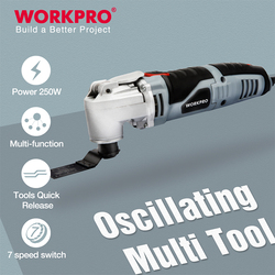 WORKPRO 250W Electric Multifunction Oscillating Tool Variable Speed Power Hand Tool with Accessories Electric Cutter