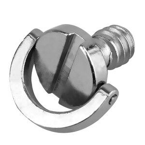 Image 2 - חם 3C 5 חבילת 1/4inch שחרור מהיר צלחת הרכבה בורג d טבעת D פיר QR בורג מתאם הר עבור DSLR מצלמה חצובה חדרגל QR