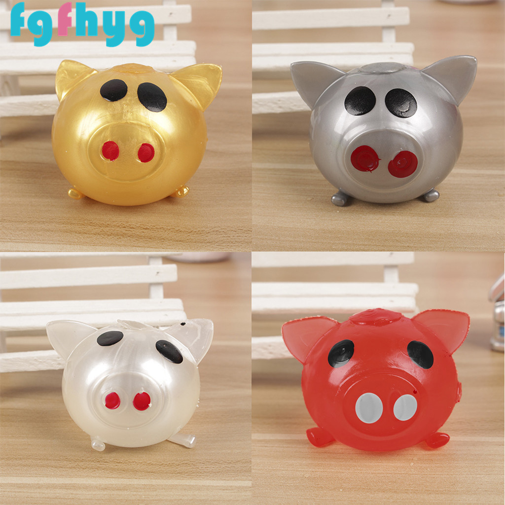 Toys For Kids 2019Top Hot 1Pc Jello Pig Cute Anti Stress Splat Water Pig Ball Vent Toy Venting Sticky Pig  Juguetes De Los Ninos