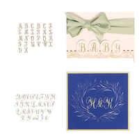 Alfabeto Set A ~ Z Speciale Elegante Artistico Lettere Hot Foil Piatti per Scrapbooking FAI DA TE Carte di Carta Artigianato Nuovo 2019