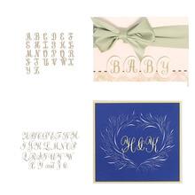 Alphabet Set A~Z Special Elegant Artistic Letters Hot Foil Plates for Scrapbooking DIY Paper Cards Crafts New 2019 стоимость