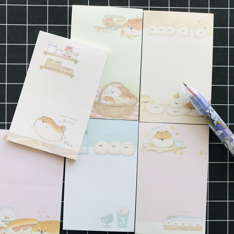 30 pages Kawaii Dogs Cute Fat Shiba Inu Memo Pads Planner Notepad School Office Supply Student Stationery