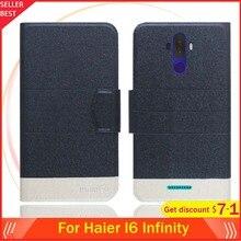 """5 цветов горячей! Haier I6 Infinity Case 6,"""" флип ультратонкий кожаный эксклюзивный чехол для телефона Модная книга форматом в пол-листа слоты для карт"""