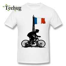 Latest Boy French Flag T Shirt Bike Tee Crazy Unique Birthday gift For Short-sleeved