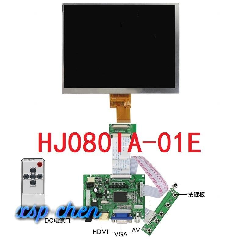 Pantalla lcd de 8 pulgadas HJ080IA-01E pantalla LCD IPS hd de 1024x768 + placa controladora de Control HDMI/VGA/2AV