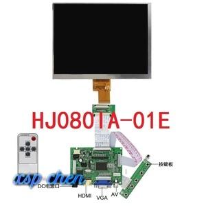 8 inch lcd screen HJ080IA-01E 1024*768 IPS hd LCD Display + HDMI/VGA/2AV Control Driver Board(China)