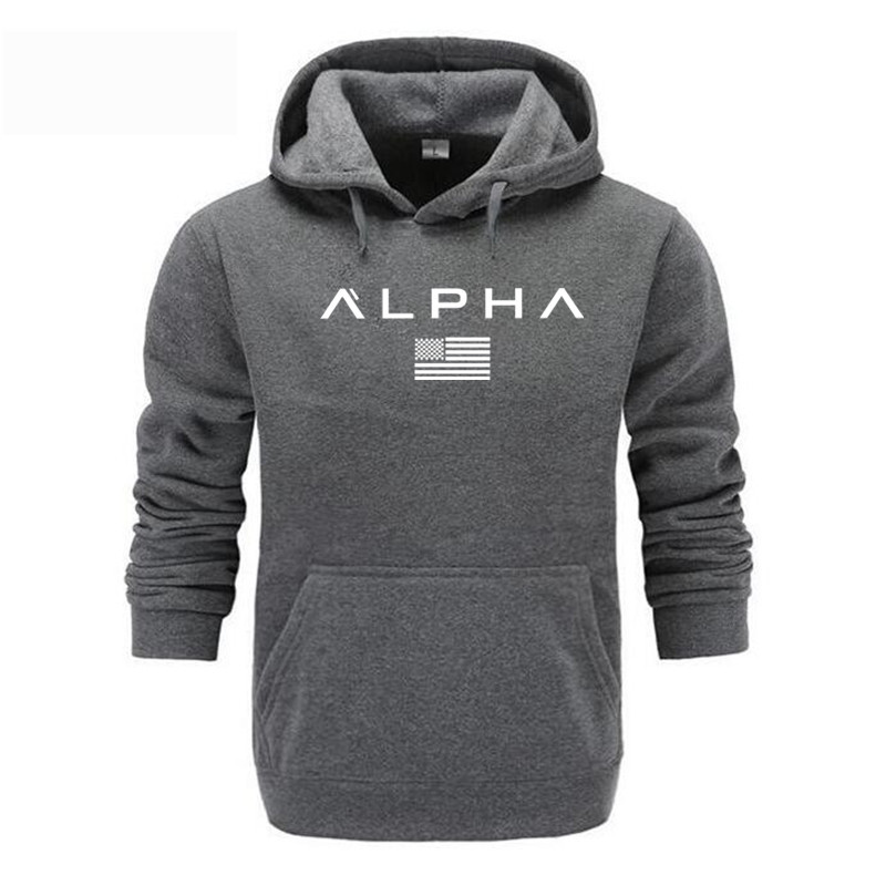 2020 Men's High Quality Alpha Industries Letter Print Fashion Men's Hoodie Men's / Women's Autumn and Winter New Brand Hoodies