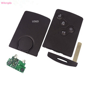 Image 1 - Wilongda 4ปุ่มรีโมทกุญแจรถKeylessระบบ434Mhz Pcf7953 Hitag AESชิปสำหรับRenault Clio 4 Keyอุปกรณ์เสริมหลังจาก2013