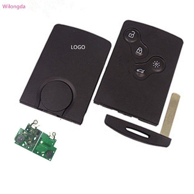 Wilongda 4ปุ่มรีโมทกุญแจรถKeylessระบบ434Mhz Pcf7953 Hitag AESชิปสำหรับRenault Clio 4 Keyอุปกรณ์เสริมหลังจาก2013