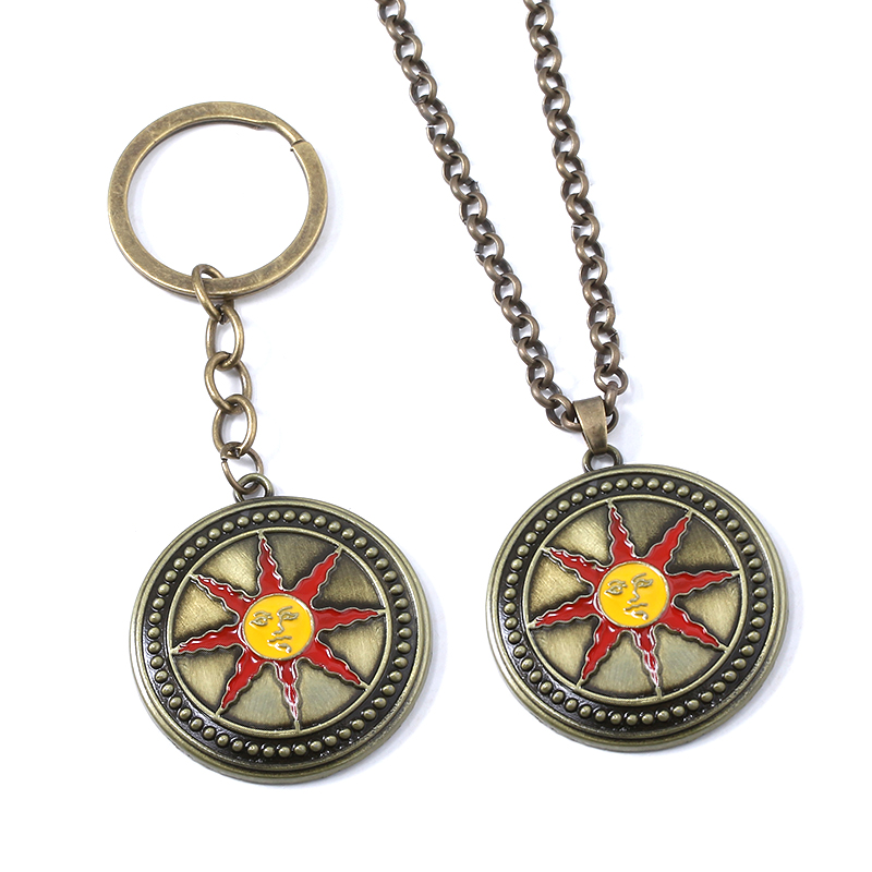 SG New Badge Keychains High Quality Alloy Sun Knight Logo Pendants Keyring For Women Men Car Bag Cosplay Jewelry