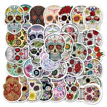 50PCS/Package Mexican Calaver Sugar Skull Car Sticker Skateboard Laptop Luggage Decals Car Styling Anime Graffiti Sticker Suitca