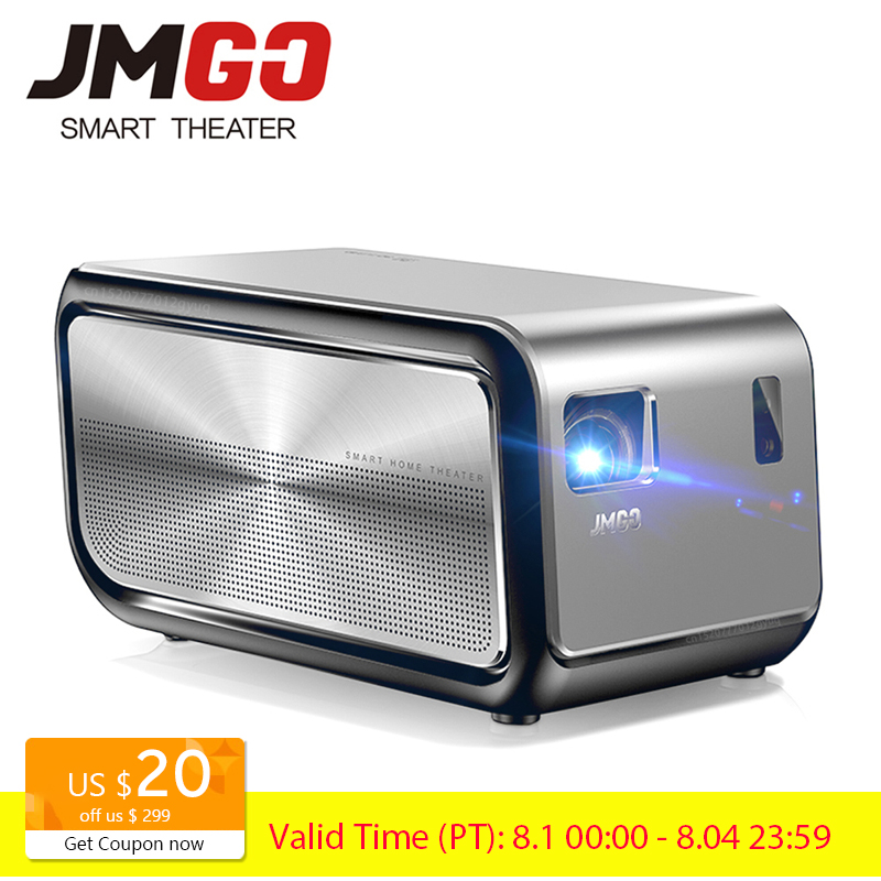 JMGO J6S Full HD Android Projector Comes with WIFI Bluetooth 1920x1080p 1100 ANSI Lumen Smart Beamer