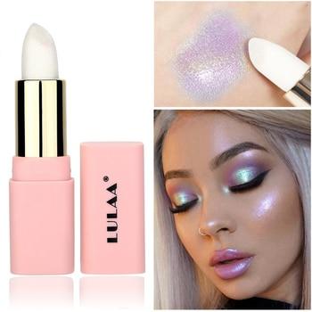 Multicolor Holographic Mermaid Glitter Lipstick Shiny Metallic Lipsticks Waterproof Long Lasting Gold Lip Stick Makeup Cosmetic 1