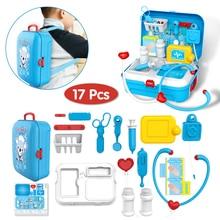 17 шт., Детский набор для ролевых игр, игрушка доктора, портативный рюкзак, медицинский набор, медицинский набор, ролевые игры, Классические игрушки для детей