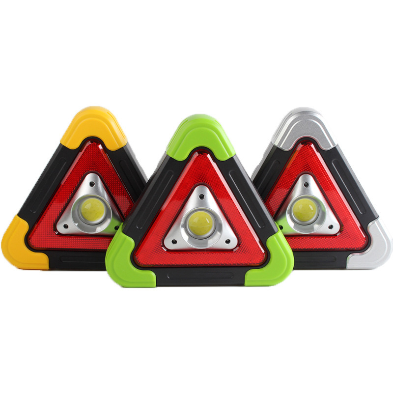 Solar Camping Buckle Triangle USB Rechargeable Camping Outdoor LED Hand Emergency Warning Work Light