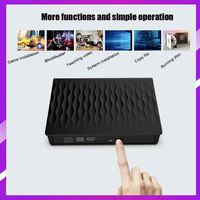For Mac 10 OS Window 7/8/XP/Linux External Drive USB 3.0 Burner BD RE CD/DVD RW Writer Play 3D Disc