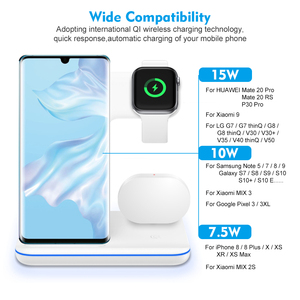 Image 5 - Qi Wireless Fast Charger Charging Pad Stand Dock 15W For Iphone 11 Pro Max Apple Watch 4 3 2 Airpods Station Chargeur Induction