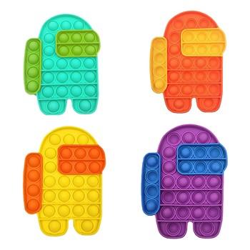 Push Pops Bubble zabawka sensoryczna autyzm potrzebuje Squishy Stress Reliever lęk antystresowy poput silikonowe dzieci dorosłych gra komputerowa tanie i dobre opinie CN (pochodzenie) MATERNITY 25-36m 4-6y 7-12y 12 + y Decompression Toys Antistress Toys kawaii montessori fidget toys bubble fidget