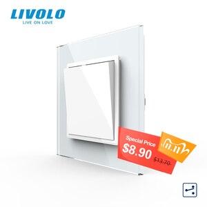 Image 1 - Livolo Manufacturer EU standard Luxury crystal glass panel,Push button 2 Way switch, keyboard switch ,key pad cross switch