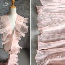 18 см Однослойная складка волнистая кружевная отделка старый