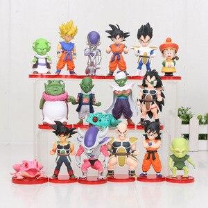 Image 3 - 8pcs/set 3 10cm Dragon Ball Z WCF Son Goku chichi DWC Gohan Piccolo Vegeta Nappa Raditz Freeza PVC Action Figure Model Toy