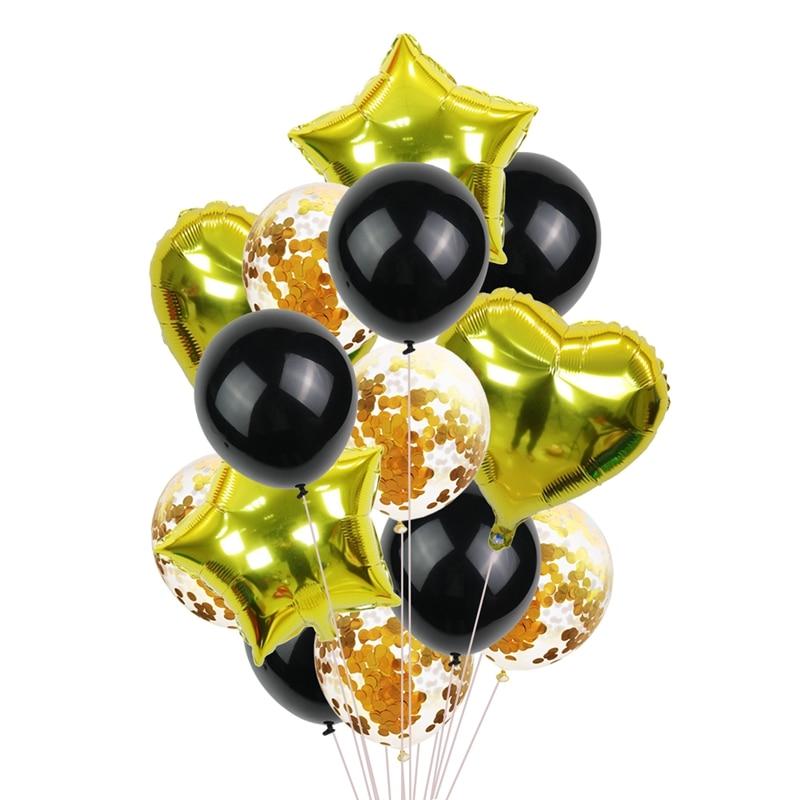 """14 шт. мульти воздушный шар """"Конфетти"""" с днем рождения воздушные шары розовое золото баллоны с гелием мальчик девочка ребенок душ вечерние принадлежности-3"""