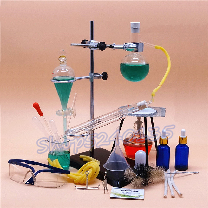 150ml small distillation unit set Glass Essential Oil distillation unit pure dew purification chemical laboratory equipment