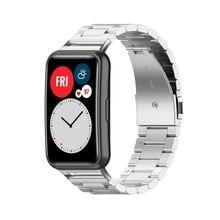 צמיד נירוסטה יד רצועת שעון להקת עבור HUAWEI שעון Fit שעון AXYF