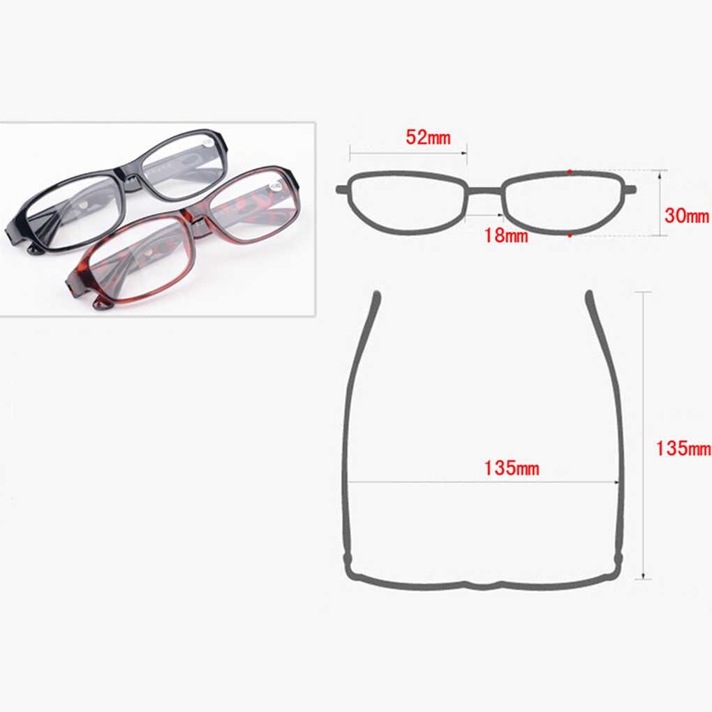 Frauen Männer Harz Lesebrille Leser Presbyopie Linsen Tragbare Senioren Brillen Vergrößerungs Brille