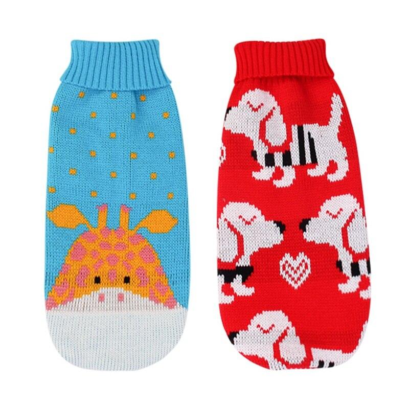 XS/S/M/L/XL/XXL Одежда для домашних животных на осень и зиму теплые аксессуары для маленьких и средних собак свитер трикотажная одежда с рисунком