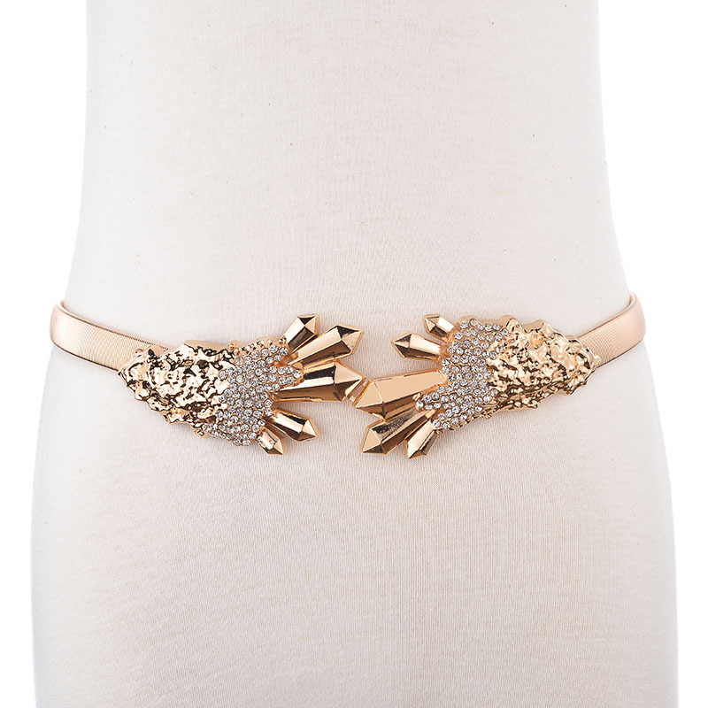 2020 New Design Body Jewelry Trendy Alloy Carved Flower Belly Chain Fashion All-match Punk Style Female Stylish Body Chain ZK751