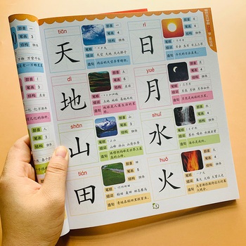 цена на 1200Pcs Chinese Basics characters han zi reading Literacy books Children kids adults beginners preschool textbook