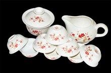 Chinese celadon fish tea cup set kungfu tea cups kit porcelain teacup ceramic embossed crafts high-grade teacups Free Shipping