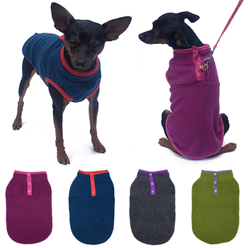 Dog Clothes Winter Autumn Warm Fleece Vest Soft Thicken Lightweight Sweater Hot Sale Cute Pet For Small Dogs T-shirt