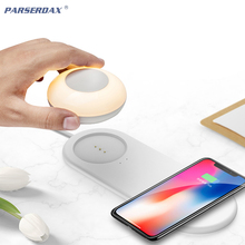 LED Night Light with Wireless Charger For iPhone Samsung Huawei Xiaomi Mobile Ph