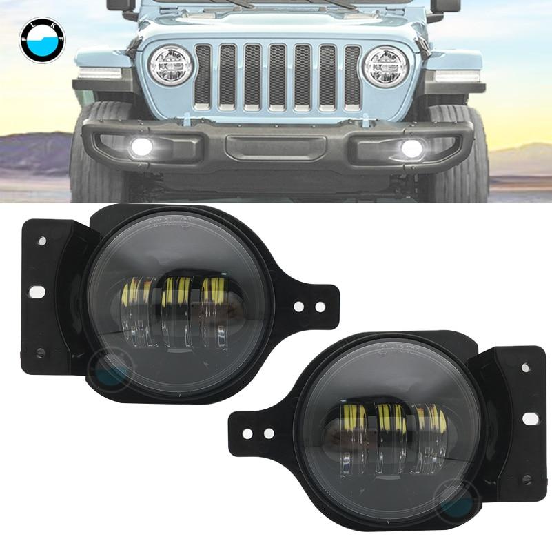 "Halo 7/"" Black Led Headlight+2X4/""Led Fog Lamp Turn Signal Light For Jeep Wrangler"